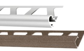 Schluter's Trendline textured color-coated aluminum profiles