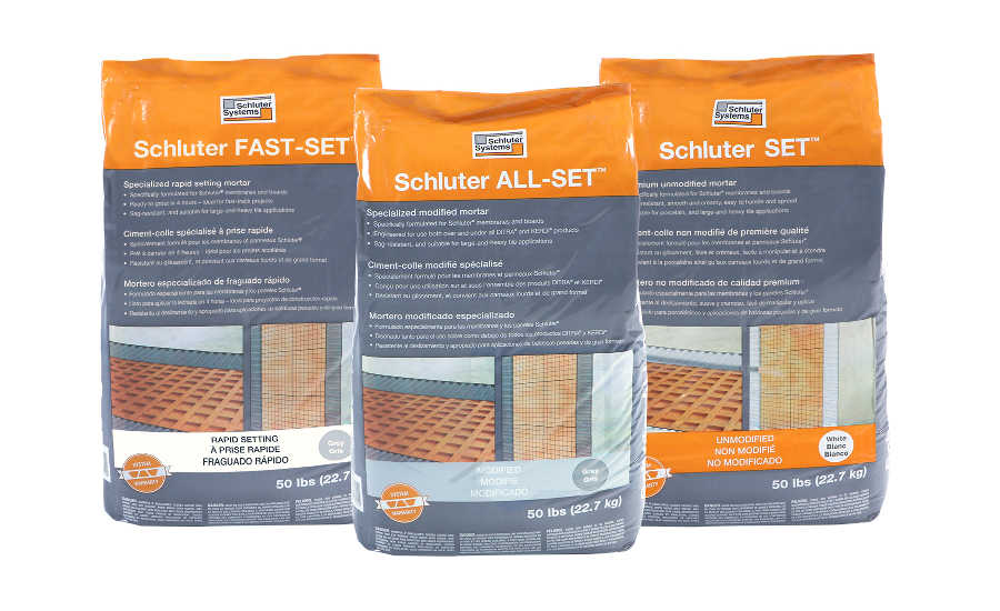Schluter-thin-set-mortar