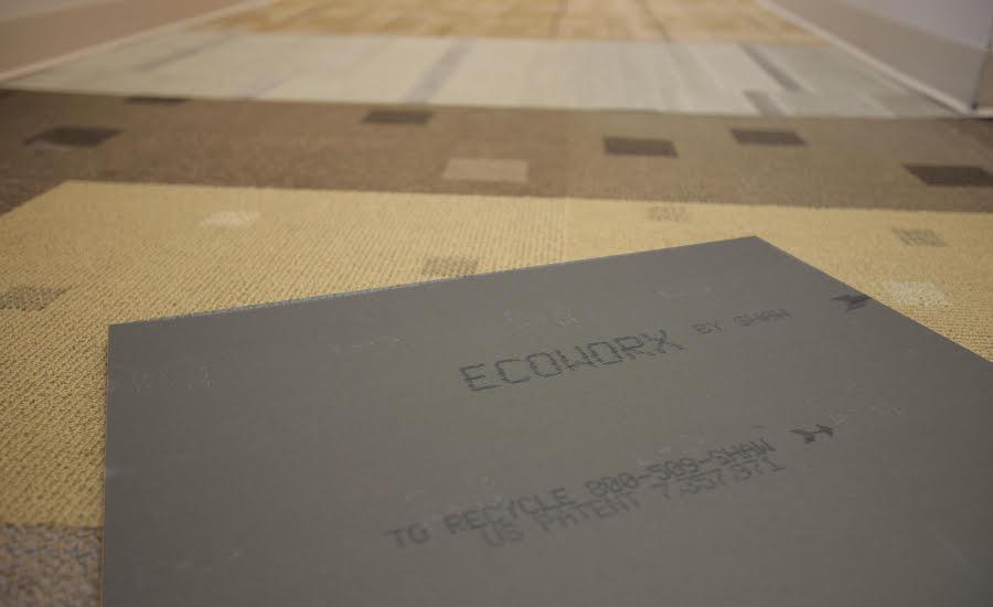 Shaw-Sustainability-EcoWorx.jpg. Shaw's EcoWorx carpet tile.
