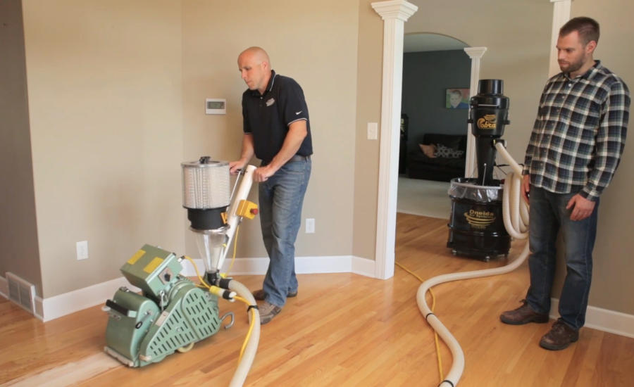 Portable Floor Sanding Dust Collection