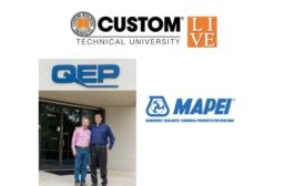 CTEF Grant Matching gifts from Custom Building Products, Mapei and QEP