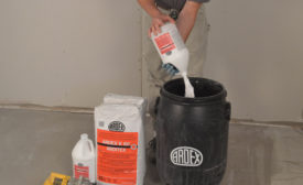 Mixing a batch of Ardex K 60