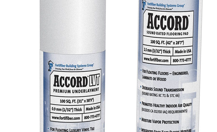 Fortifiber Unveils Accord, Accord LVT Underlayments