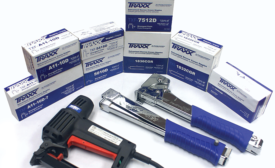 Traxx carpet and flooring staples and tools