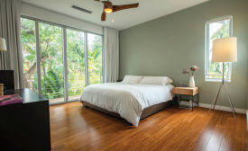 Tongue-and-groove bamboo floors