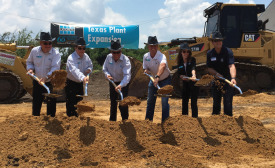 Laticrete plant groundbreaking