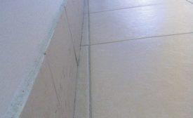 improperly cut ceramic tile