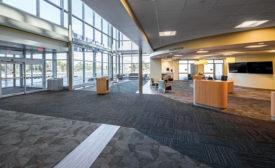 carpet tile/vinyl installation in hospital