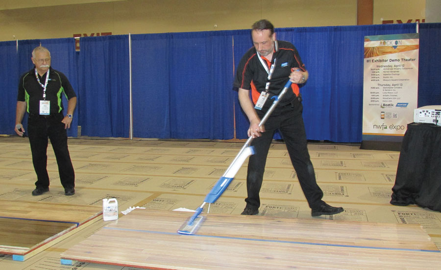 demo of EasyWhey floor finishing system