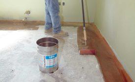 applying HPS Schonox's EPA moisture mitigation system