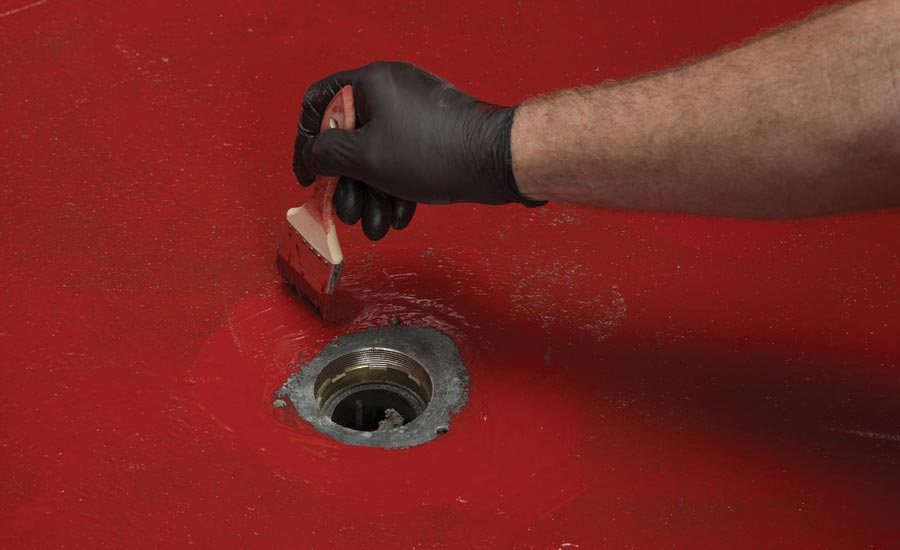 waterproofing around drain