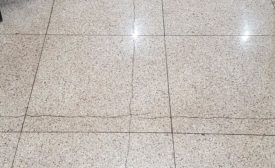 cracked tile over expansion joint
