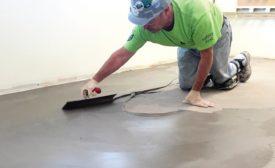 applying Durock Advanced Skim Coat Floor Patch