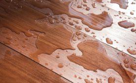 water on flooring