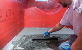 installing with a mud bed