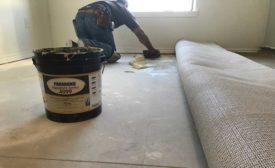 installing carpet backing