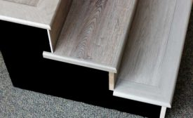 Enduracor moldings on a set of stairs
