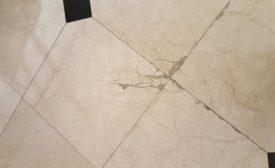 broken large-format tiles