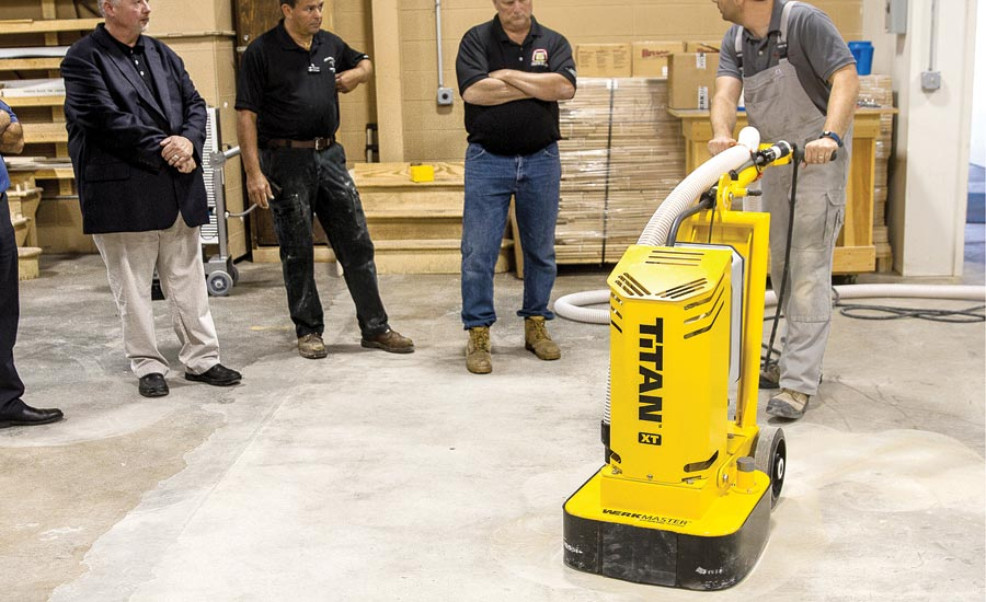 student trained on WerkMaster's Titan XT grinding and polishing machine