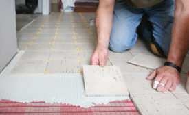laying tile over Nuheat Mesh system