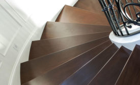 stair treads on spiral staircase