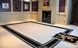 carpet installation in pool room