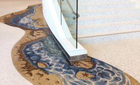 mosaic installation at childrens hospital