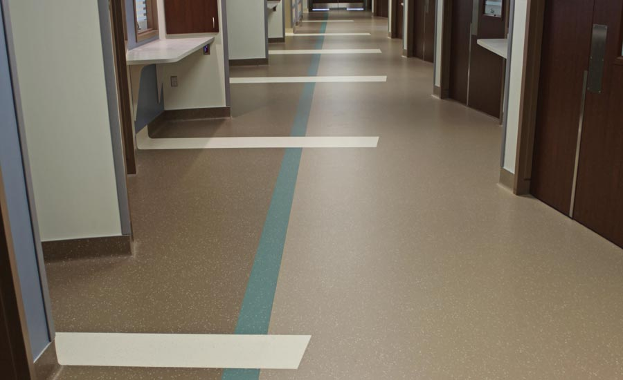 luxury vinyl tile installed in healthcare facility