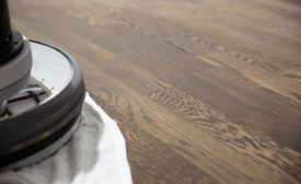 buffing in hardwood flooring finish