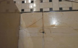 cracked marble tile