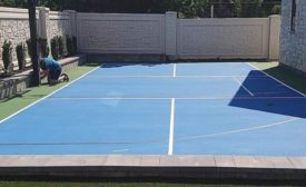 basketball/pickleball court