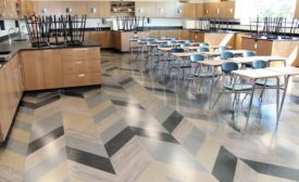 LVT installed in Florence County school