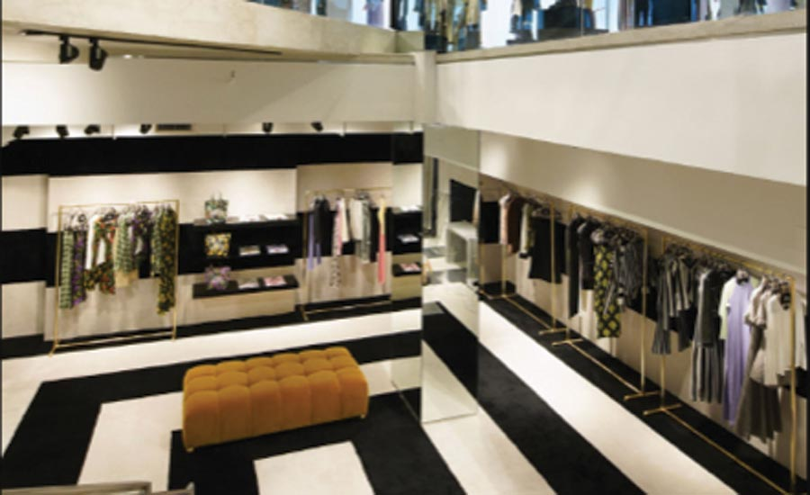carpet installed in Marc Jacob's flagship store