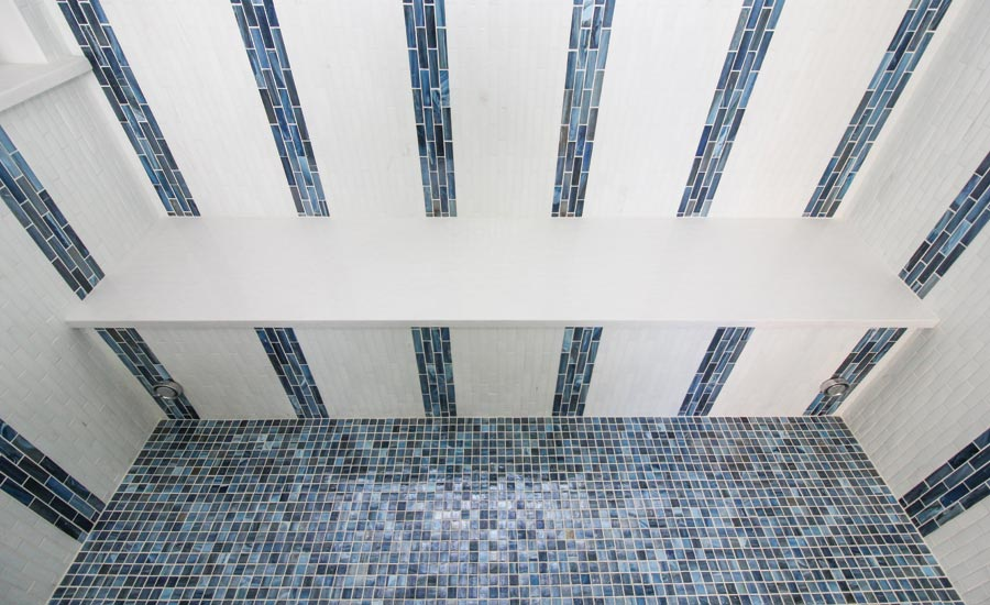 steam shower tile installation