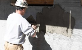 preparing substrate for exterior tile installation