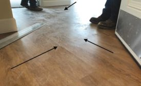poorly-installed luxury vinyl plank