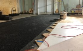 flooring installation at Quality Bistro