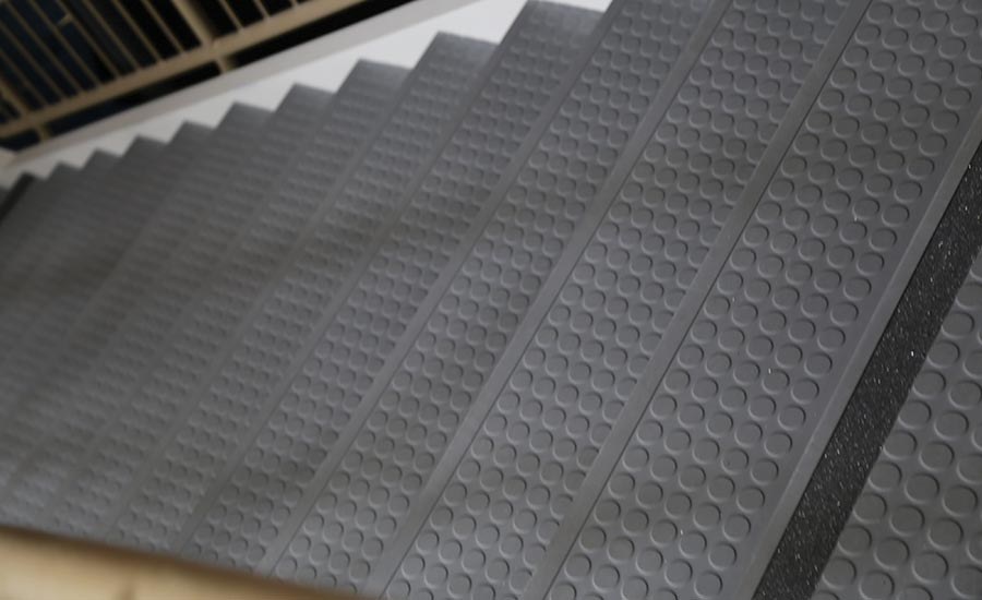 Roppe Rubber Stair Treads with DuPont Kevlar Fibers