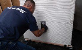 gauged porcelain tile installation