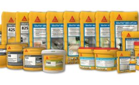 Sika tile and stone installation products