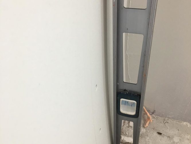 wall out of plumb