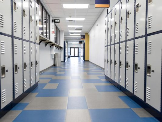 installing flooring for educational facilities