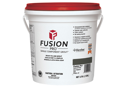 Custom's Fusion Pro grout available in 24 designer colors