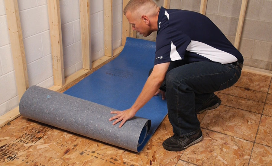 Rolling out underlayment