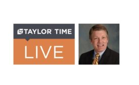 Taylor Time Live logo and photo of Mike Hutton