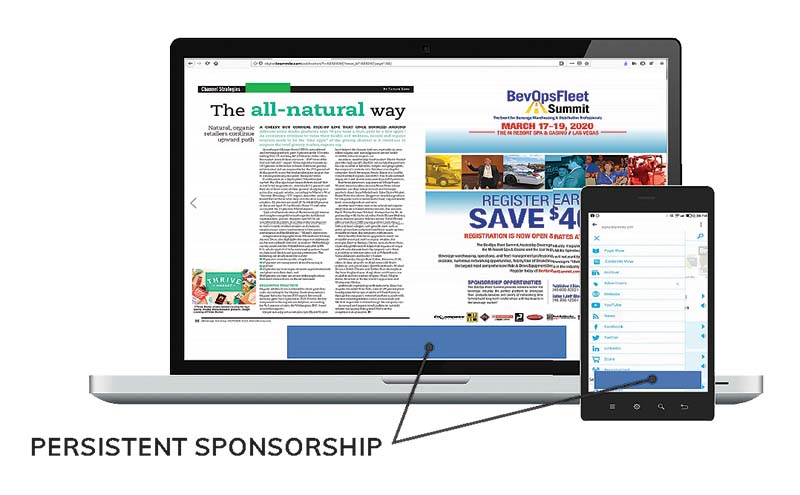 Digital Edition Persistent Sponsorship.