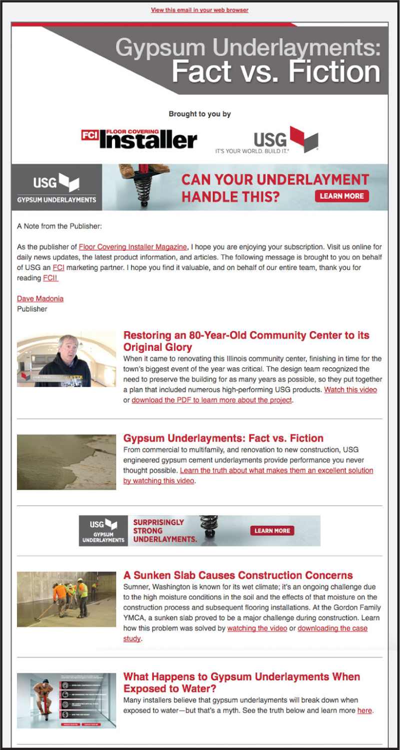 custom eNewsletter sample