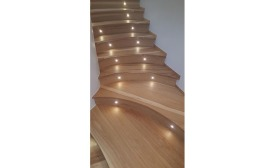 Lighted Hickory Stairs