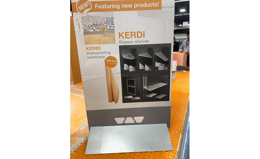 KERDI stainless steel shower shelves