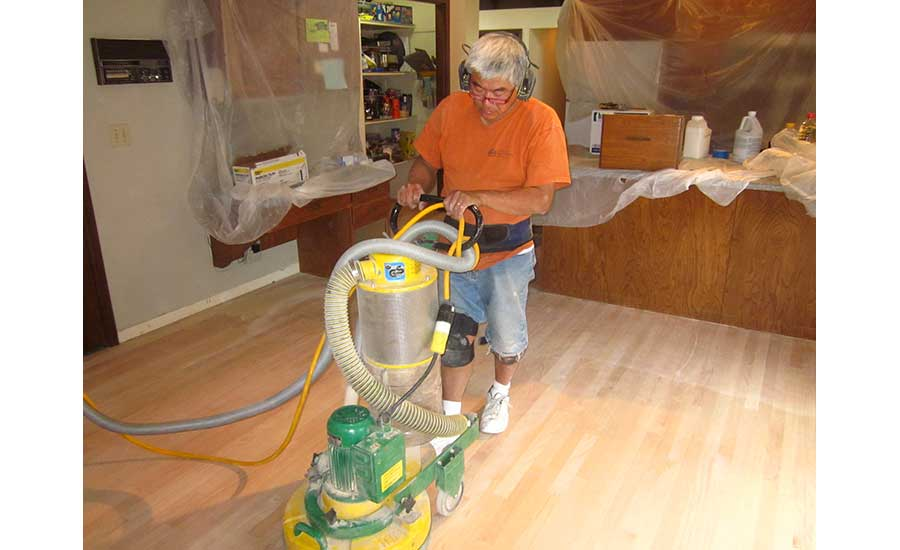 Namba on a flooring installation job